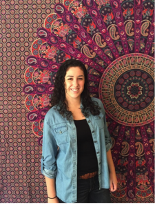 Junior Patricia Masi finds her chambray shirt to be a versatile essential of her wardrobe.