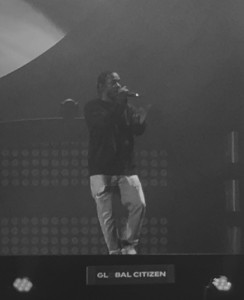 """Kendrick Lamar welcomes the crowd to his """"m.A.A.d. City."""" Andrew DaRosa/The Mirror"""