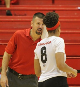 After being down two sets, head coach Todd Kress pushed his team to battle back. Alfredo Torres/The Mirror