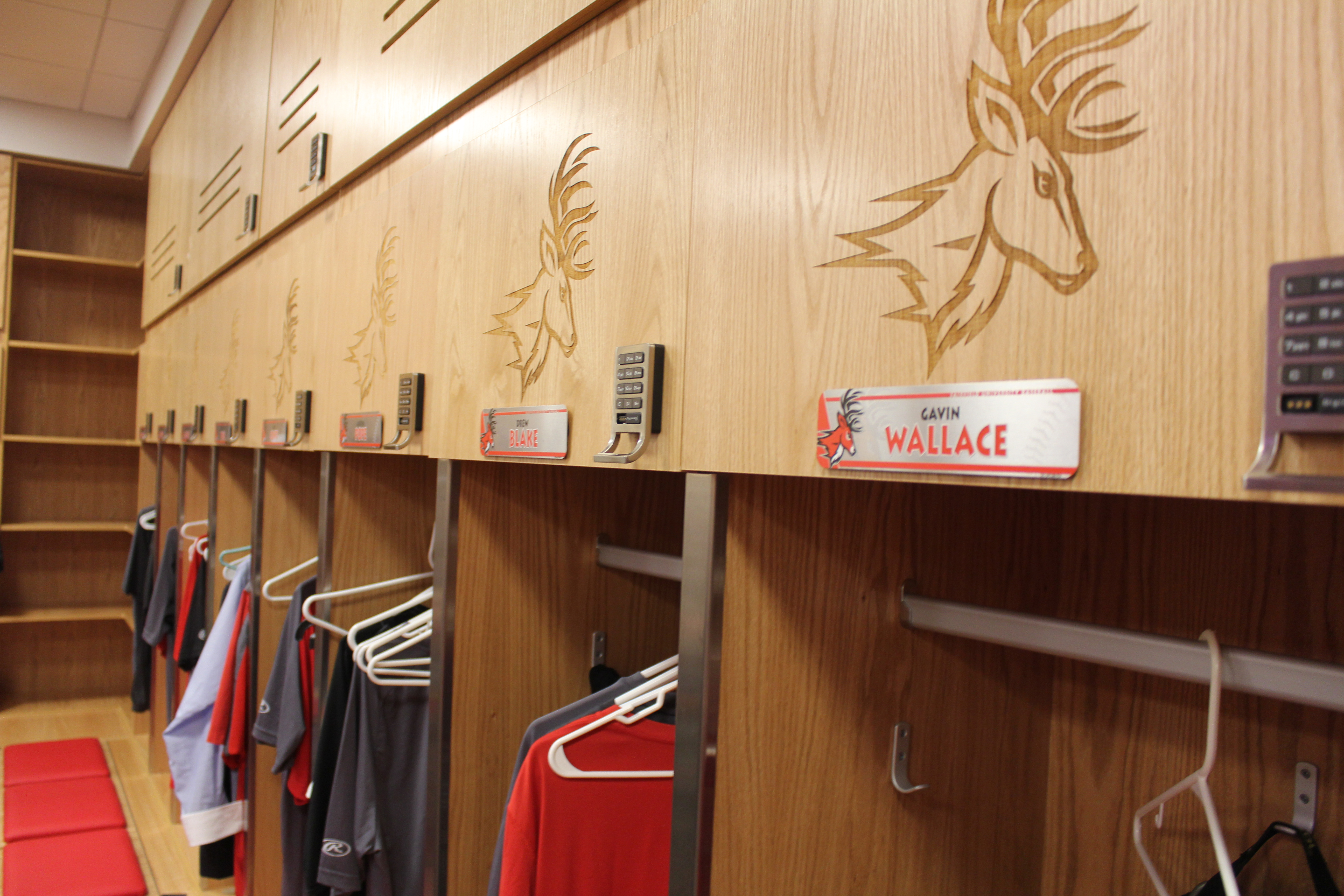 The Baseball Team Received New Improvements In Their Locker Room Including Tvs