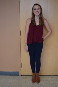 Sophomore Grace O'Hara models her style after Taylor Swift.